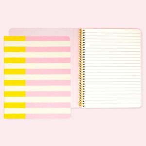 KATE SPADE Two-Tone Concealed Spiral Notebook NWT